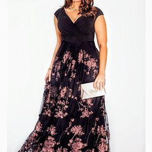 Lakshmi Black and Bronze Dress size 22/24